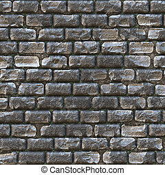 castle wall made up of old gray bricks
