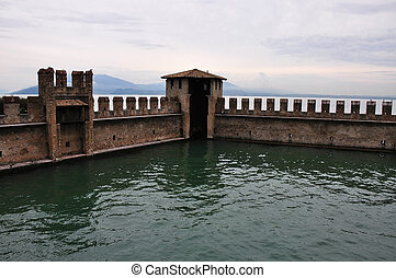 castle wall of fortress in Sirmione