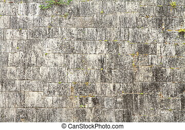 Castle wall of Shuri castle in Naha, Okinawa, Japan