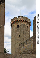 Castle walls and towers