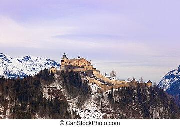 Castle Werfen near Salzburg Austria - architecture and nature background