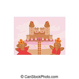 castle with candy
