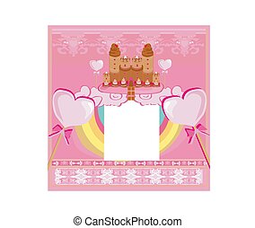 Castle with candy - sweet card