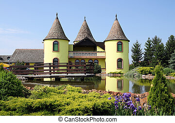 castle with pond Eastern Europe Serbia