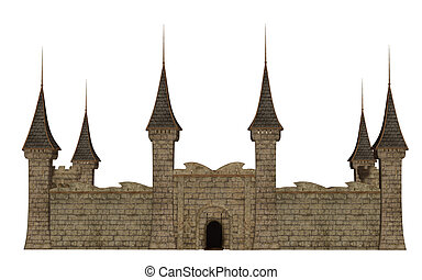 Castle,fortress,  isolated on the white background