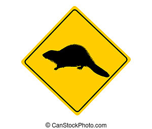 castoro, simbolo di avvertenza