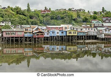 Castro on Chiloe Island, Chile