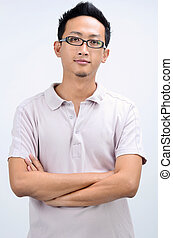 Casual Asian man