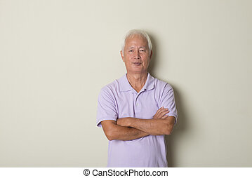 casual asian senior