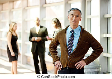 Casual Business Man - A cansual Asian looking business man...