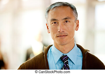 Casual Business Man - A portrait of a semi casual business...