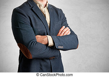 Casual Business Man - Casual business man with arms crossed...