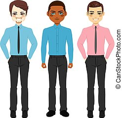 Casual Businessmen Group - Small group collection of three...