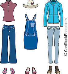 Set of casual clothing for women
