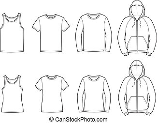 Casual clothes - Vector illustration of casual clothes. ...