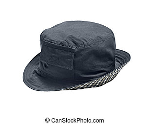 casual dark grey hat isolated on white background