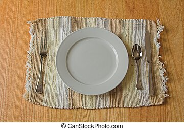casual dining place setting