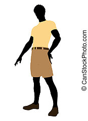 Casual Dress African American Illustration Silhouette -...