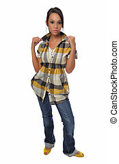 casual dress young woman