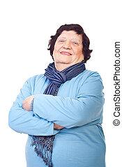 Casual elderly woman