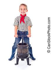 Casual farmer boy