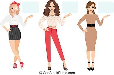 Casual fashion woman presentation