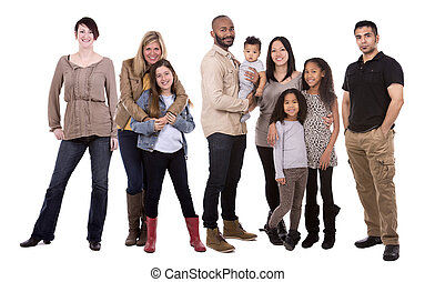 casual group of people - people wearing casual outfits on...