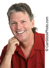 Casual Guy - Perfect Smile - A casual, handsome, middle-aged...