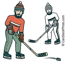 Casual hockey player