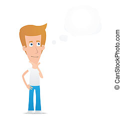 Casual man - Illustration of a cartoon cute character for...