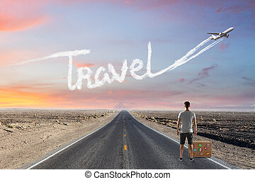 Traveling, transportation and holiday concept