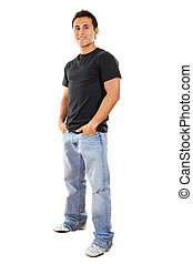Casual man - Stock image of casual man isolated on white ...