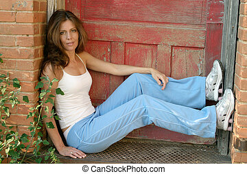 Casual Model 9 - Beautiful fashion model in casual outfit...