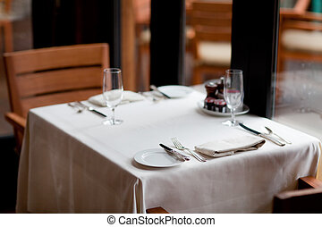 ... table setting - casual nice table setting in the restaraunt & Nice table setting Stock Photo Images. 848 Nice table setting ...