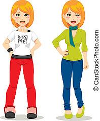 Casual Redhair Girl - Beautiful redhair teenage girl in ...