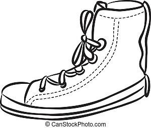 Casual shoes doodle