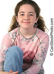 Casual Teen Closeup - A stylish teenaged girl in a casual...
