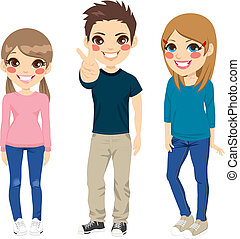 Casual Teenagers Posing
