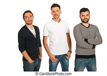 Casual three friends men