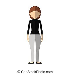 casual woman formal cloth icon