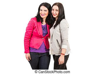 Casual women friends