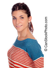 Casual young girl smiling