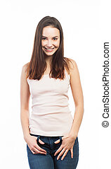 Casual young woman