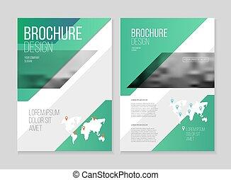 catálogo, cobertura, desenho