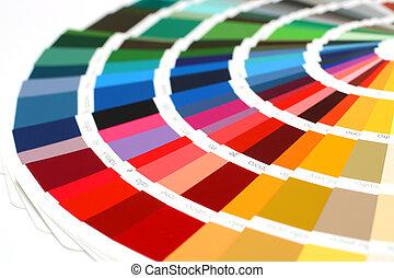 catálogo, muestra, ral, colores