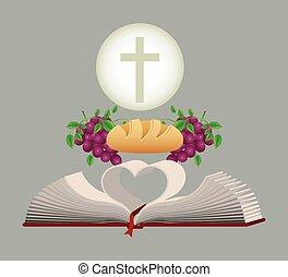 católico, diseño, religión