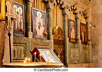 católico, histórico, igreja, antigas,  altar