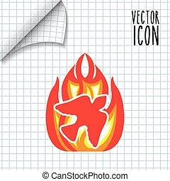 católico, icono, diseño