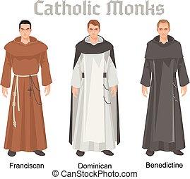 católico, monjes