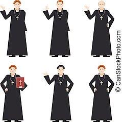 católico, -, padre, cardeal